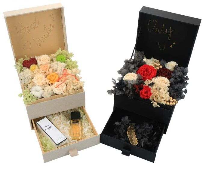 Wedding Gift Singapore: Drawer Shape Flower Gift Box,use Waterproof Paperboard And