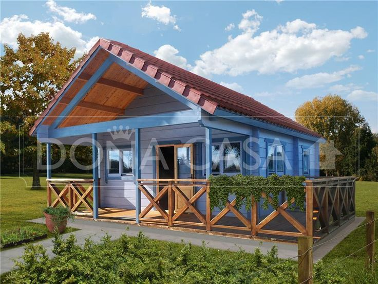 Antares b 50 m 600x600 con porche y altillo bungalow de - Bungalow de madera ...