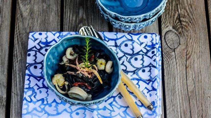 tagliatelle nero di seppia recipe food blog Ifood