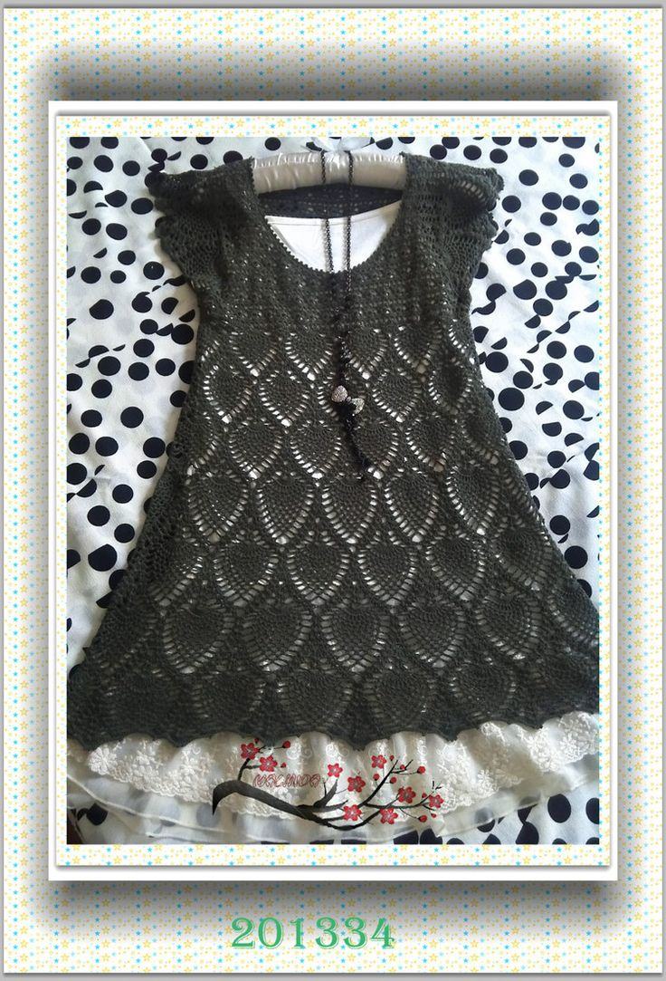 100 best crochet gothic images on pinterest ideas diy and crochet dress with diagram bankloansurffo Images