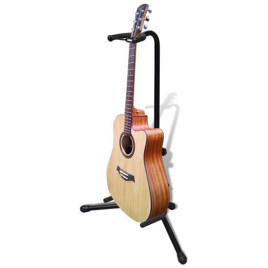 Gitaarstandaard voor klassieke gitaar, zoals op de foto (achter de gitaar)