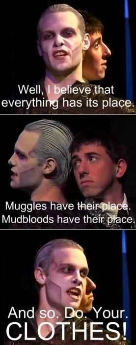 I am not ashamed to admit that I quote this line to my husband at least once a week. I feel your pain, Voldemort.