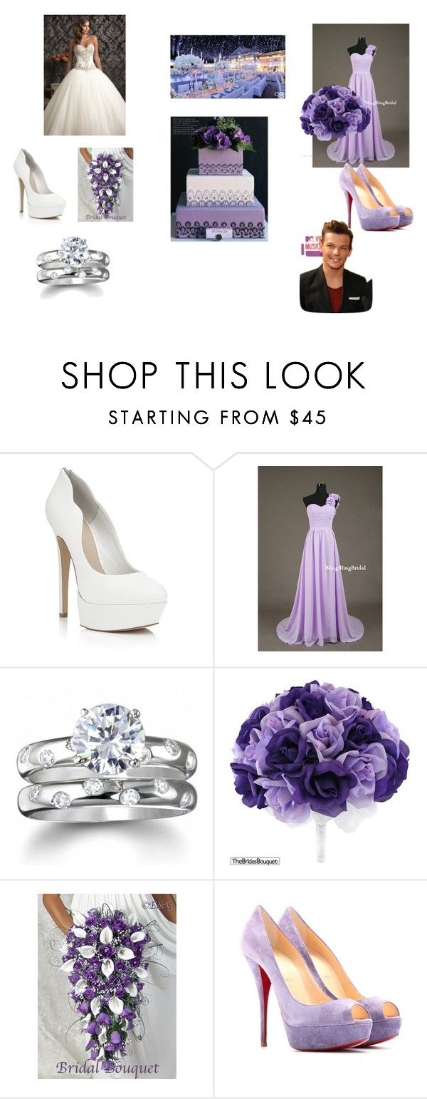"""""""Yours and Louis Wedding"""" by larryyftmuke ❤ liked on Polyvore featuring Carvela Kurt Geiger, Maggie Sottero, Fantasy Jewelry Box, Reception and Christian Louboutin"""