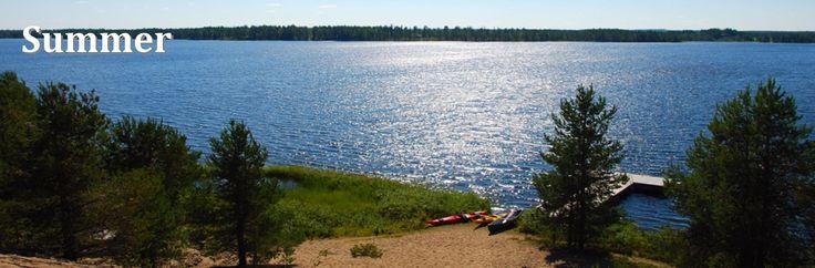 Saija Lodge in summer, active & relaxing holidays, nature, culture, canoeing, fishing, hiking, biking, midnightsun, midsummer, Taivalkoski, Kuusamo Lapland, Finland