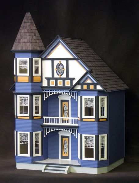 72 best d7 painted lady dollhouses images on pinterest for Victorian kit homes