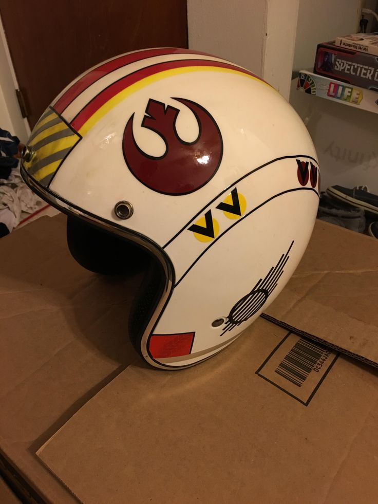 X wing motorcycle helmet - Red five.   Might end up doing more from Rogue Squadron
