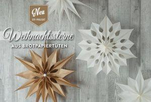 DIY: wunderschöne große Weihnachtssterne aus Brotpapiertüten super einfach selber basteln. Das Tutorial und die Vorlagen findet Ihr hier: https://www.deko-kitchen.de/diy-grosse-weihnachtssterne-aus-brotpapiertueten/