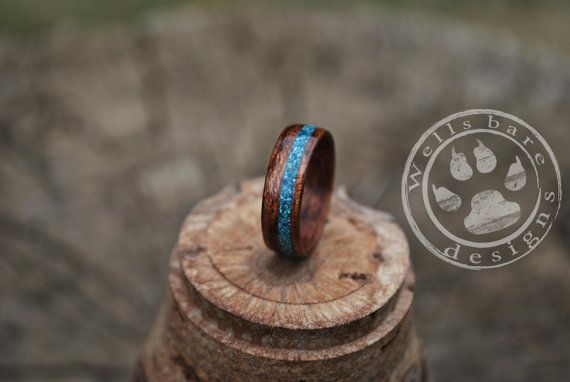 Wood Ring Wood Engagement Ring Engagement by Wellsbaredesigns