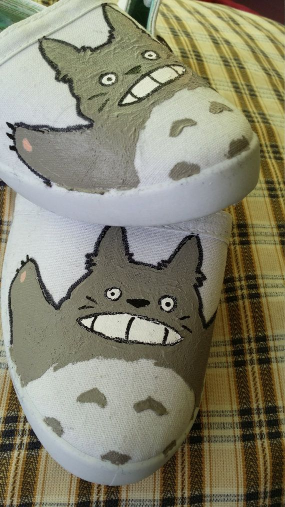 Totoro trainers by Kats13stuff on Etsy