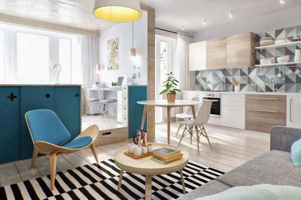Inspiración para decorar una vivienda pequeña. En esta ocasión te enseñamos un apartamento de sólo 40 m2. #decoración #hogar #home #deco #apartamentopequeño