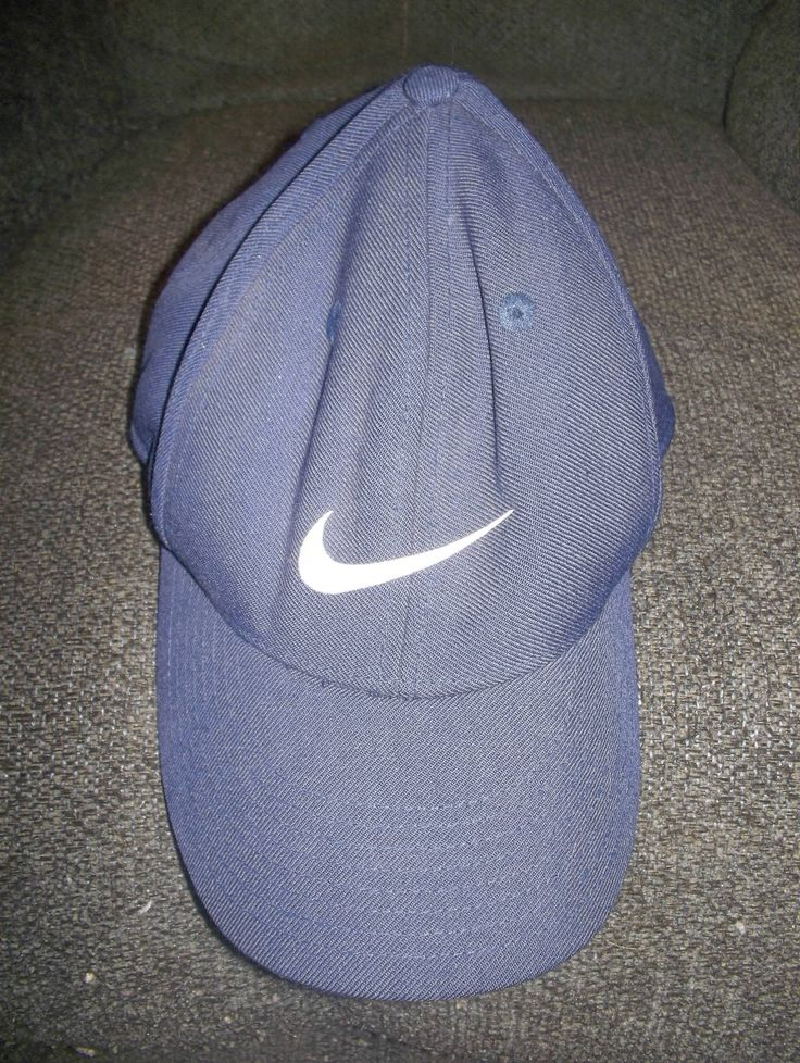 Nike Swoosh Logo Baseball Cap Hat Blue Classic Pro Fitted Size 7 Excellent Condition! $12.95!