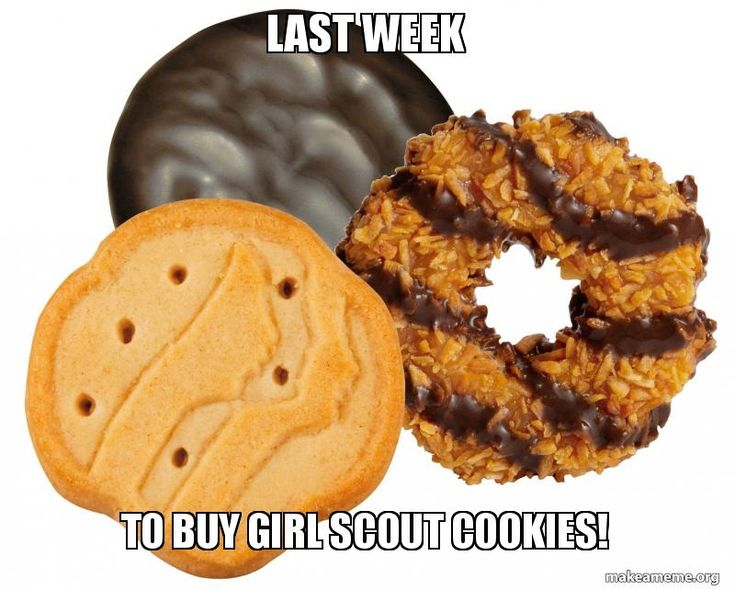 Last week to buy Girl Scout COOKIES! -