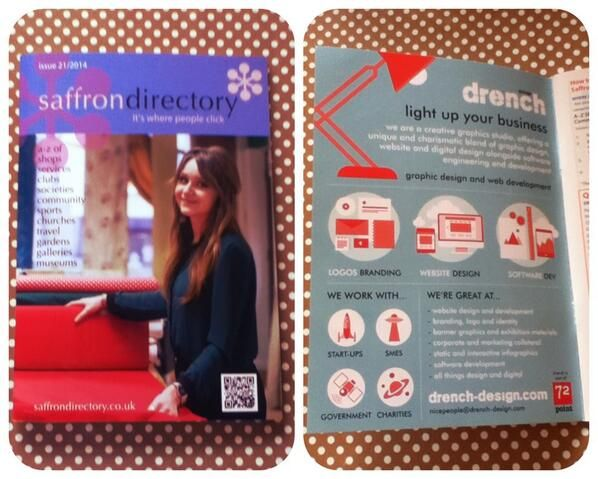Drench advert in the Saffron Directory. Where we live that is a big deal.