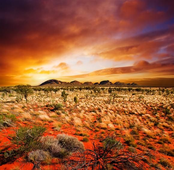 Desert Sunset In Central Australia