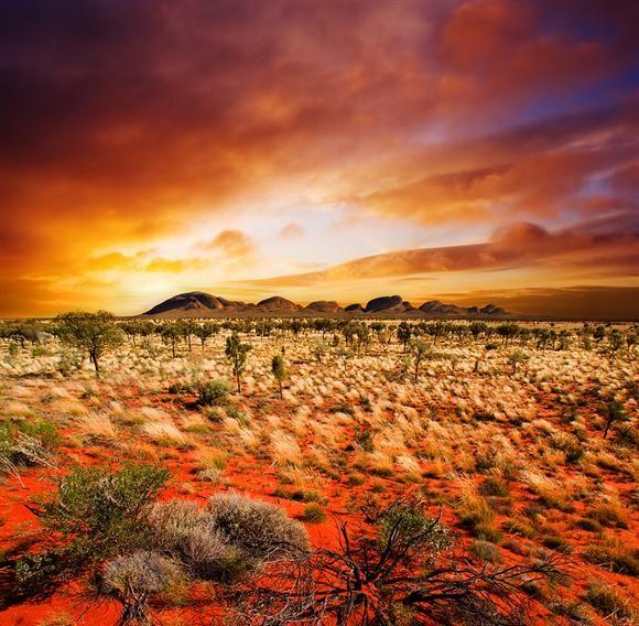 Desert Sunset In Central Australia