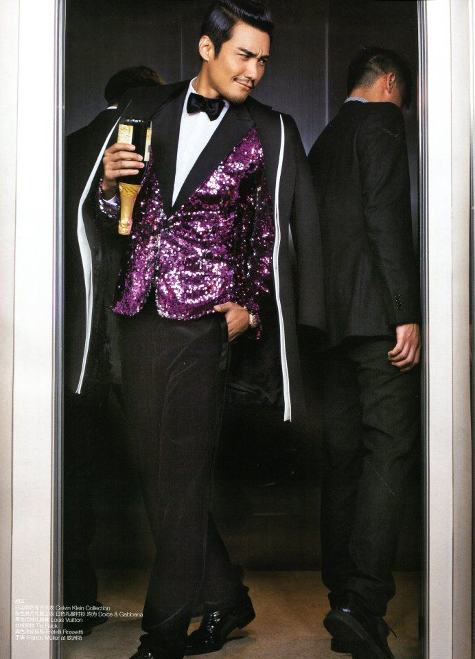 Hu Bing wearing Dolce&Gabbana Fall 2011 collection for GQ Style China.