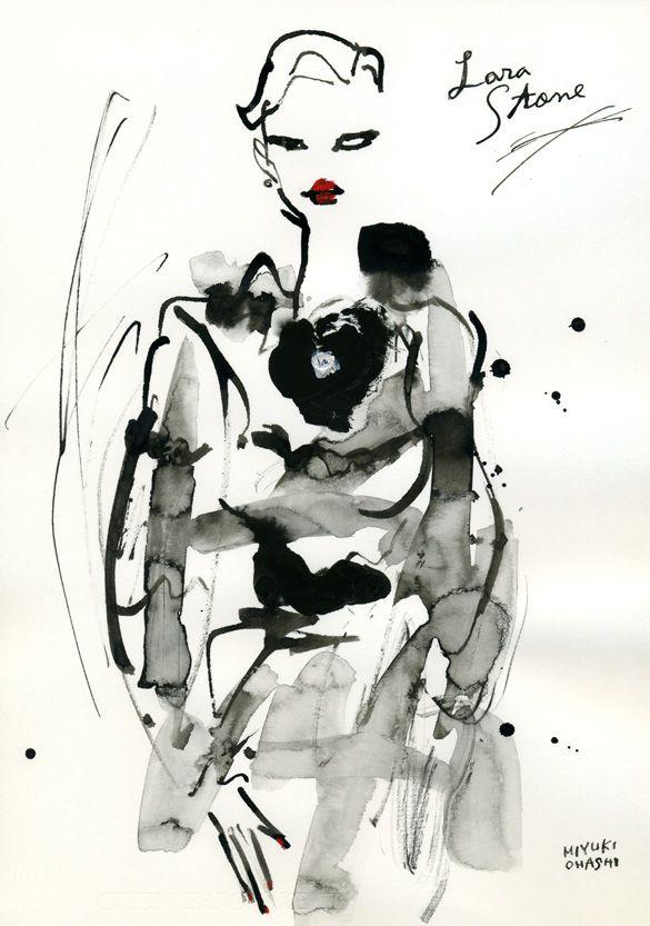 Lara Stone Cover Vogue Paris September ヴォーグ・パリ9月号のカバー、ララ・ストーンバージョン。