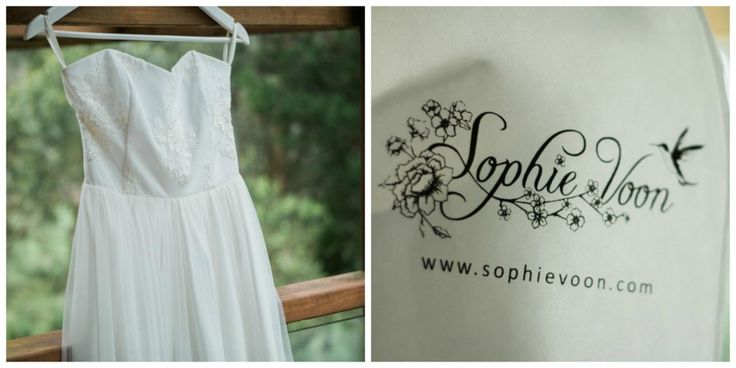 wedding dress from Sophie Voon
