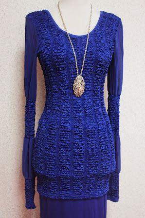 Empire of Elegance - Product - Kurung Moden Adelin (Blue)