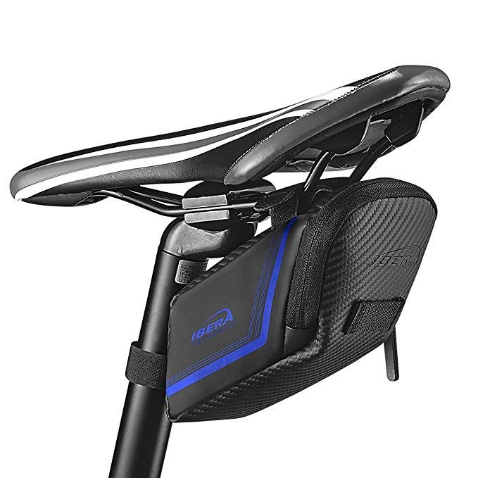 Ibera Bicycle Water Resistant Bike Saddle Bag Seat Bag Cycling Bag