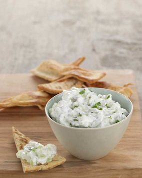 Cool down with this fast and healthy cucumber feta dip. Ingredients are available at Walmart.