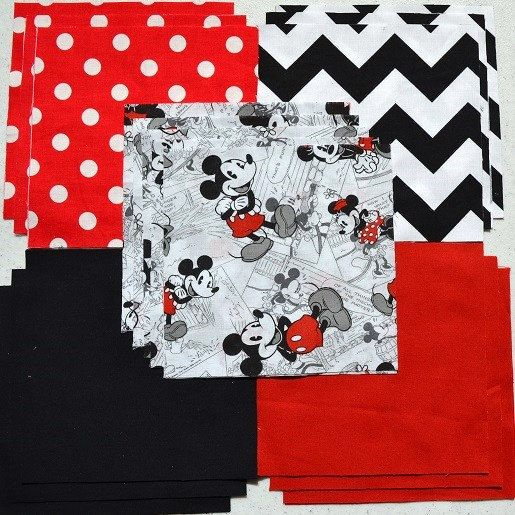 30 6 Disney MICKEY & MINNIE MOUSE classic by CottonCoutureDesigns, $10.95