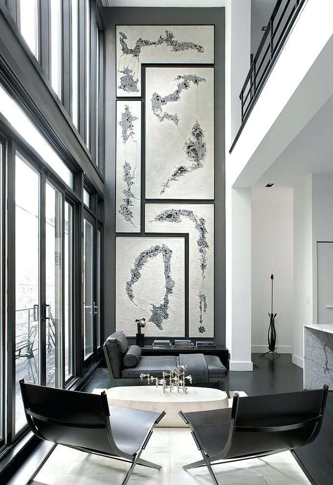 Wall Art For High Ceilings Oversized Art Interior Architecture Home Interior Design Tall Wall Decor