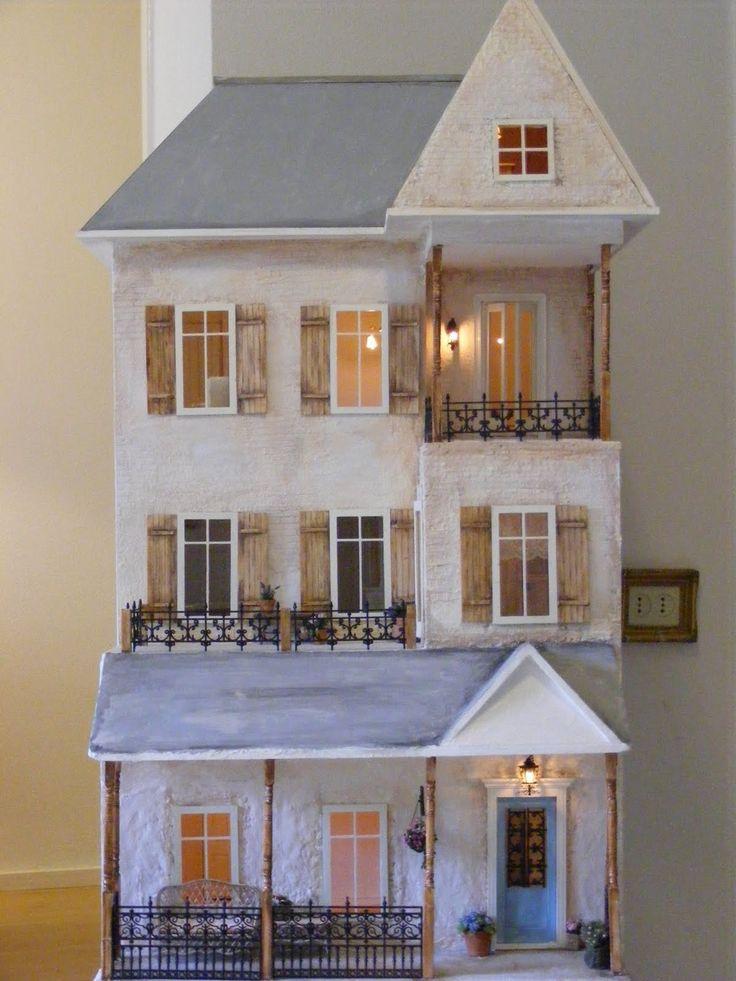 : Pretty Dollhouses, Dolls Houses, Beautiful Dollhouses, Dollhouses Rooms, White Dollhouses, Dollhouses Dreams, Dollhouses Exterior, Design Dollhouses, Dollhouses Miniatures