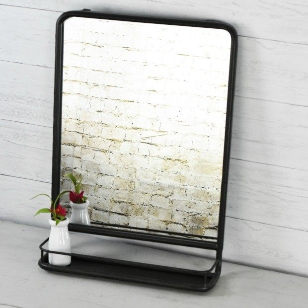 best 25 bathroom mirror with shelf ideas on pinterest. Black Bedroom Furniture Sets. Home Design Ideas