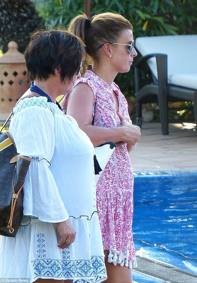 Pregnant Coleen Rooney rocks striped bikini on holiday   Daily Mail Online
