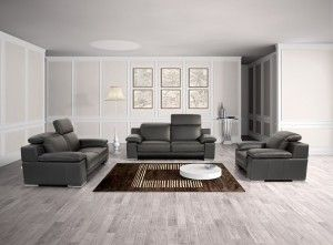 Grey Leather Sofa Sets Decorating Idea