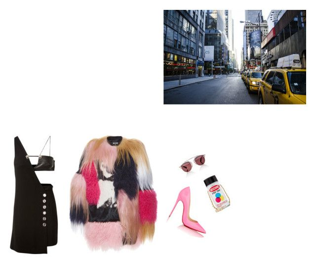 welcome to new york by venus-in-fleurs on Polyvore featuring polyvore fashion style Versus MSGM Christian Louboutin Moschino Christian Dior clothing