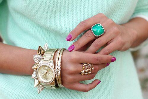 Mint & gold.