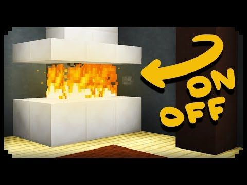 ✔ Minecraft: How to make a Working Fireplace - YouTube