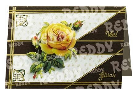 3D-Die-Cuts for Table Decorations, Size A4, yellow Roses-83708