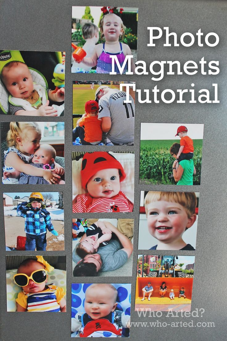 Photo Magnet Tutorial! Great stocking stuffer idea! Super easy and affordable. (I made 72 magnets for under five dollars and it only took 15-minutes.)