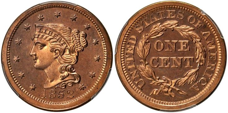 1852 Large Cent PCGS PR65 Red sold for $105,750 at the Stack's Bowers Galleries Auction in Baltimore, Maryland, July 16-21, 2015... Stack's Bowers Galleries held the official Baltimore Auction and successful buyers were quite pleased with their winning bids...One of the many highlights was the 1852 Large Cent certified by PCGS as PR65 Red; this is one of three coins known to exist in private hands and brought $105,750...