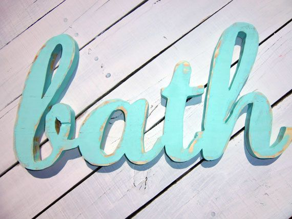 Wood Word Wall Art 20 best images about cool bathroom pics on pinterest | wash brush