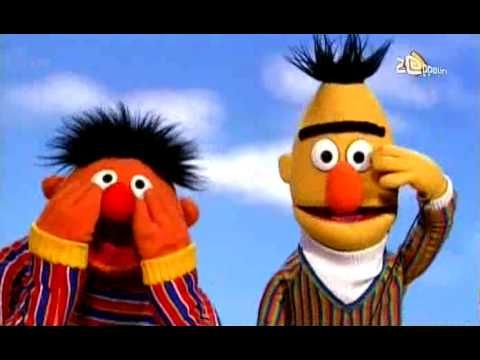 Bert & Ernie - Hand op je gezicht. Liedje