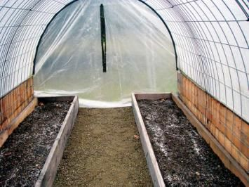 Hog panel greenhouse frame