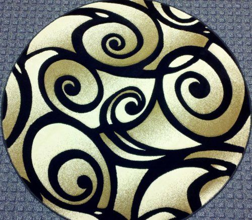 Modern Round Area Rug 5 Ft. 4 In. X 5 Ft. 4 In