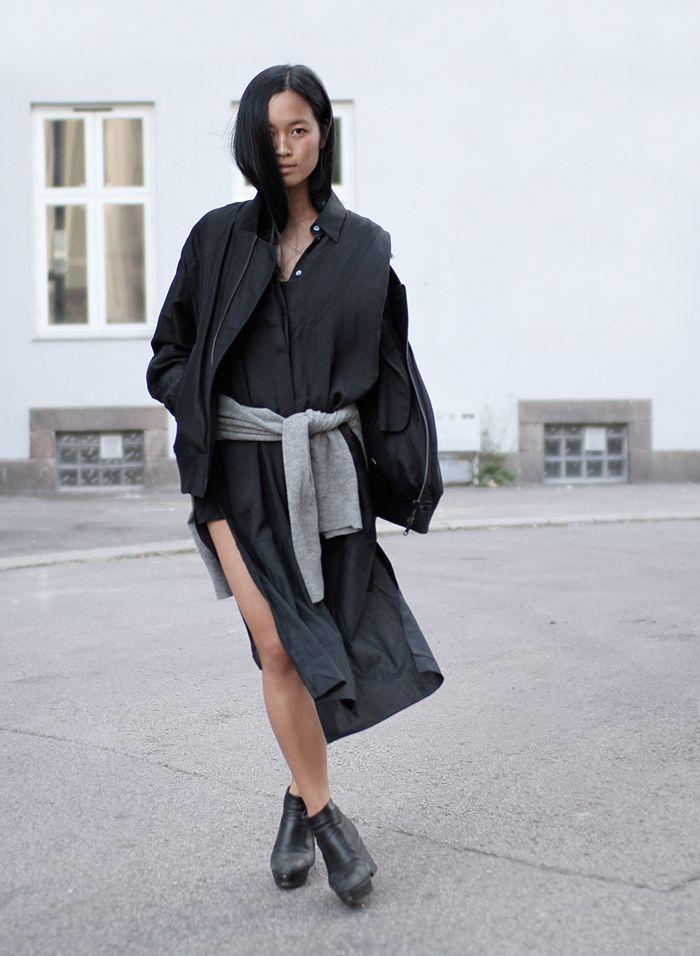 Black on black on black. All back outfit. Black to basics