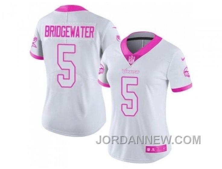 8b310f168 Teddy Bridgewater Minnesota Vikings  5 Bubble Gum Pink NFL Youth Girls  Jersey