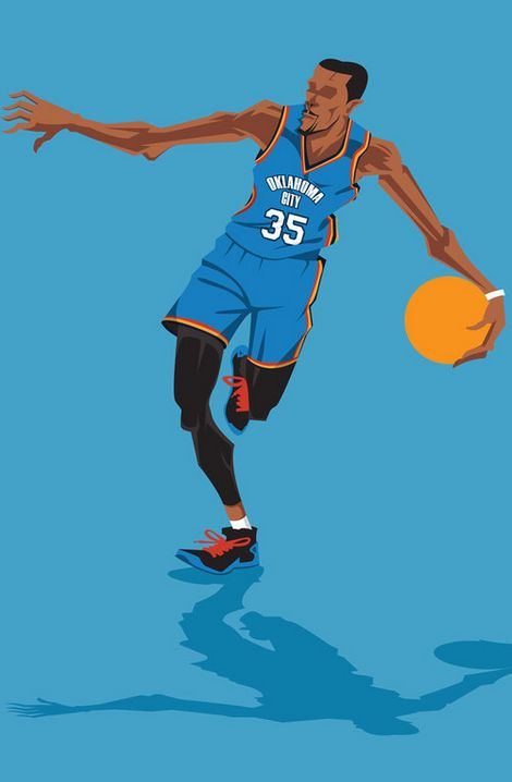 how to draw kevin durant easy