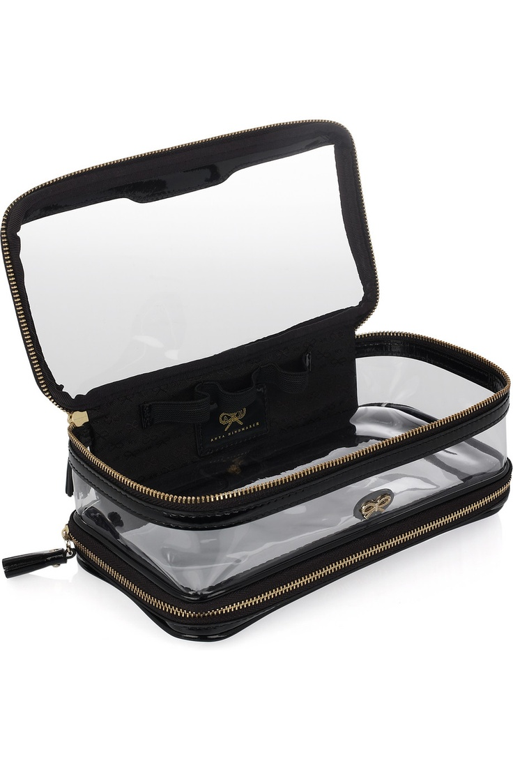 Anya Hindmarch In-Flight leather-trimmed travel case NET-A-PORTER.COM