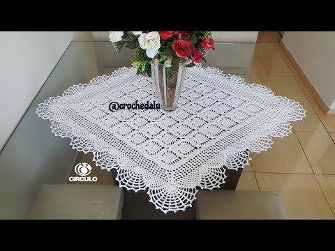 *** 1/2 - Centro de mesa em crochê com ponto abacaxi - Parte 1 - YouTube