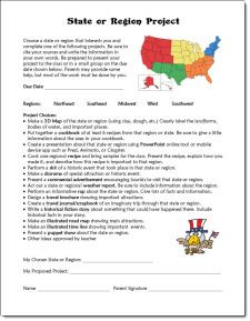 Classroom Freebies: States or Regions Project Freebie