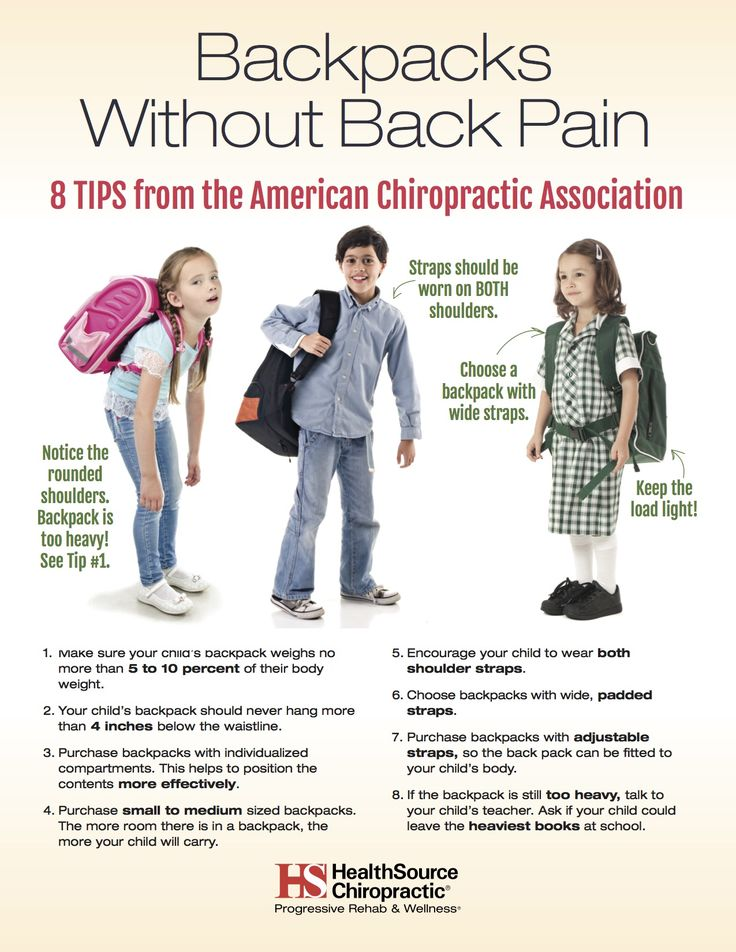 Backpacks without Back Pain - HealthSource of Highlands Ranch East Chiropractic