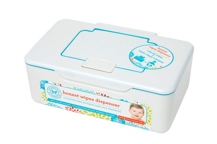Convenient and BPA free! Honest Wipes Dispenser provides easy pop-up for one-handed diaper changes.