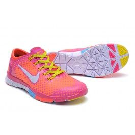 Neu Nike Free TR Fit Frauen Rosa Orange Schuhe Günstig | Beliebt Nike Free  TR Fit